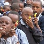 Kids with lollipops